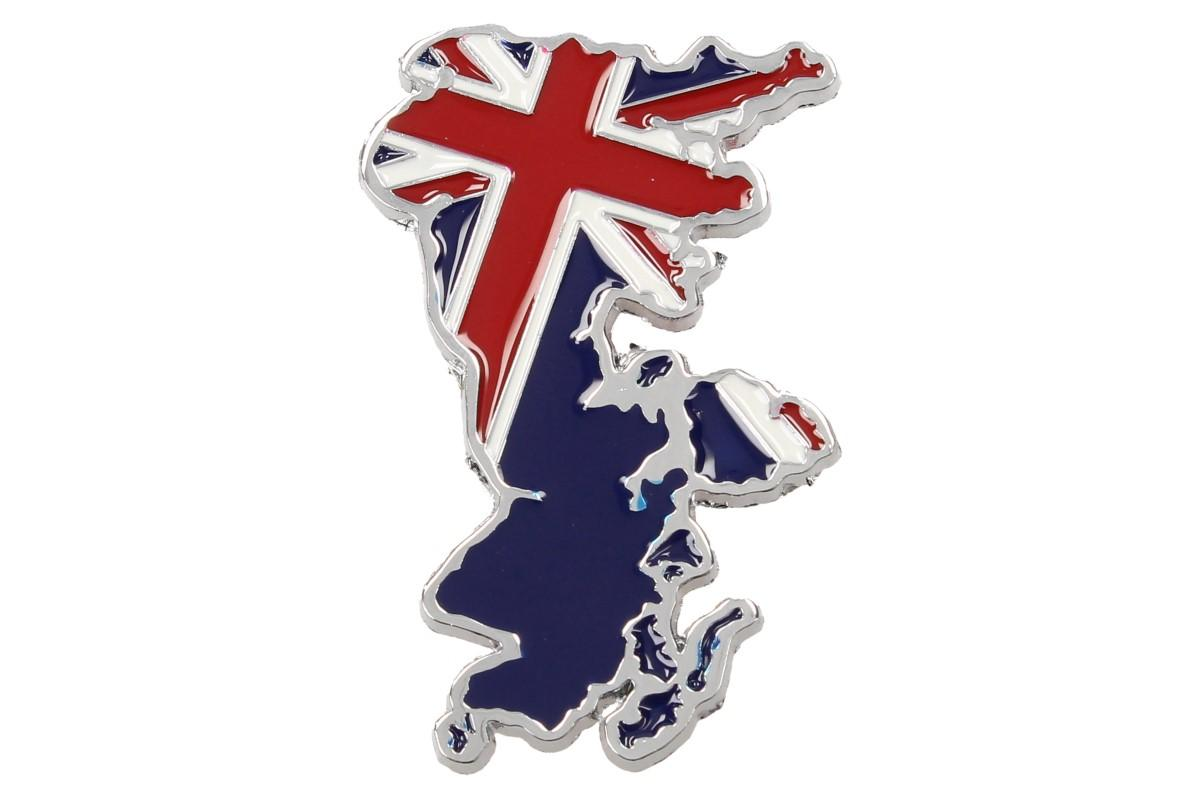 Kovová samolepka England 6,5 x 4 cm