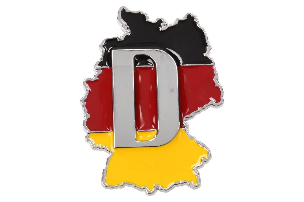Kovová samolepka Deutschland 6,5 x 5 cm