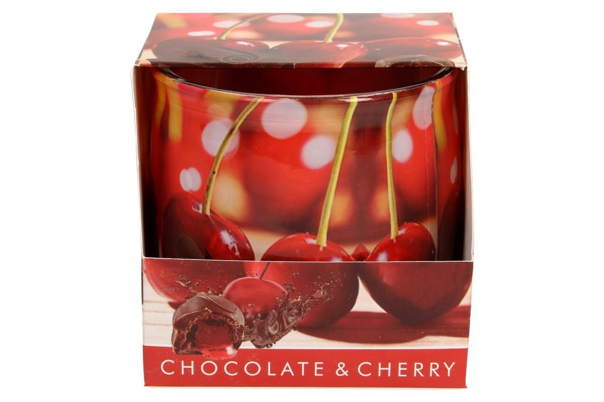Vonná svíčka višně v čokoládě