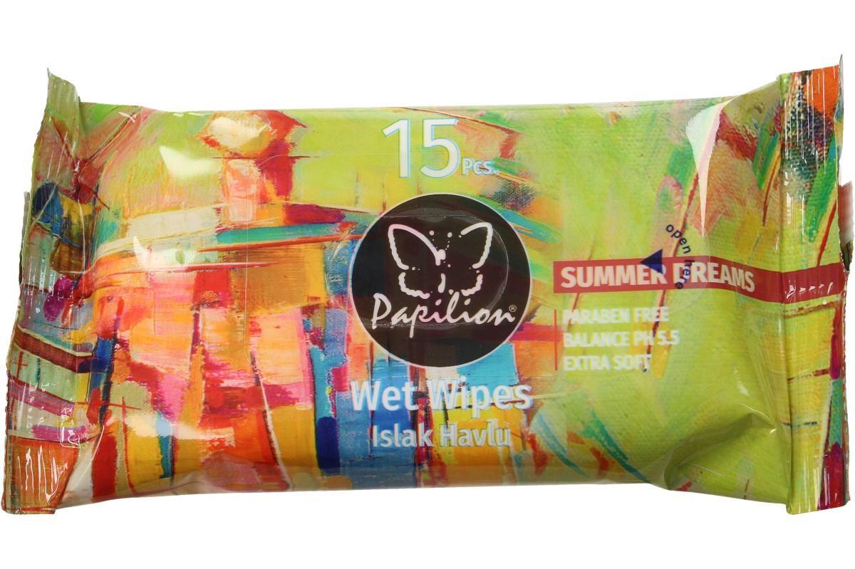 Papilion vlhčené ubrousky 15ks Summer Dreams