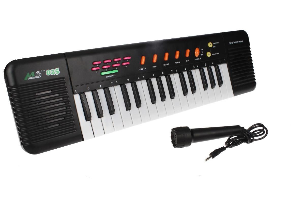 Přenosné klávesy MS-025 s mikrofonem