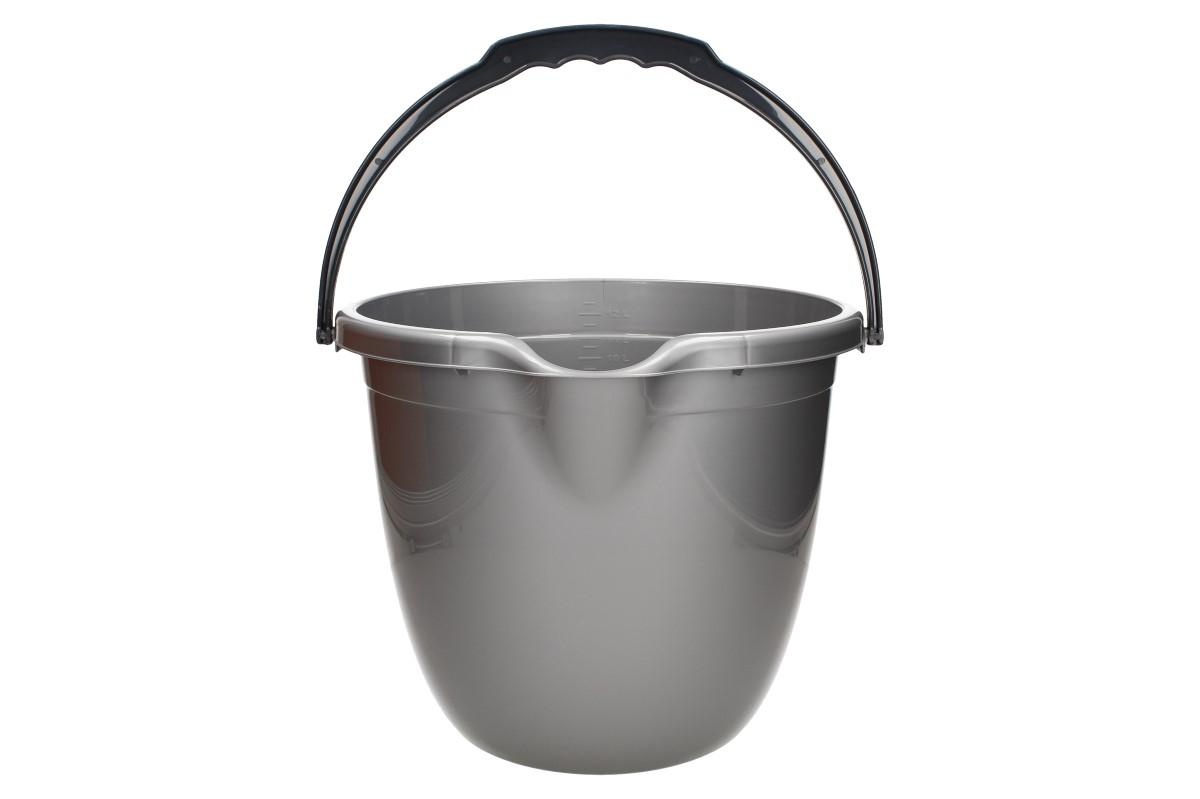 Kýbl plastový 13 l šedý