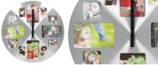 Hliníkové nástěnné hodiny s foto…