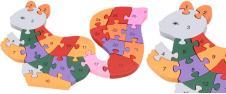 Dřevěné puzzle barevná veverka 2…