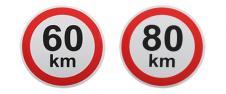 Samolepka na auto omezení rychlo…