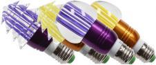 LED tvarová RGB žárovka 3W na ov…