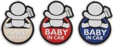 Kovová samolepka BABY IN CAR 7cm…