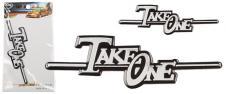 Kovová samolepka Take One 11,5 c…