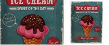 Plechová cedule Ice Cream sweet …