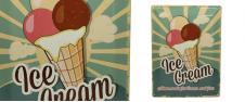 Plechová cedule Ice Cream Home m…