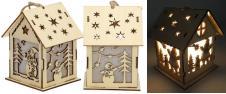 Svíticí Vánoční chaloupka dřevěn…