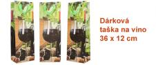Dárková taška na víno sklenička …