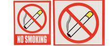 Reflexní samolepka NO SMOKING 12…