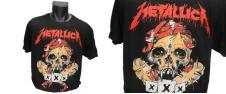Tričko Metallica, červený nápis