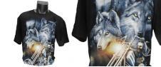 Fosforeskující tričko s vlky a m…