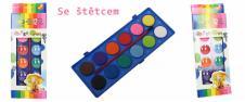 Vodové barvy 12 barev se štětcem…
