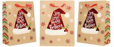 Dárková vánoční taška s čepicí 2…