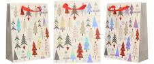 Dárková vánoční taška bílá se st…