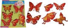 3D samolepky na zeď červení motý…