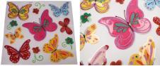 3D samolepky na zeď barevní motý…