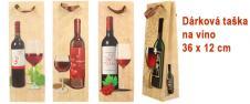Dárková taška na víno s dřevěným…