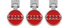 Klíčenka - znak Audi CHROM červe…