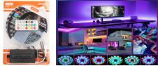 LED pásek RGB 5 m s ovladačem FO…