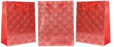 Dárková taška Kytky červená 23x1…