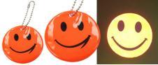 Reflexní přívěšek smajlík oranžo…