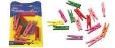 Dřevěné barevné mini kolíčky sad…