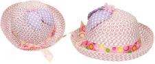 Dětský klobouk s mašličkou fialo…