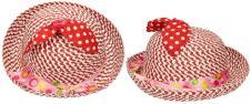 Dětský klobouk s mašličkou červe…