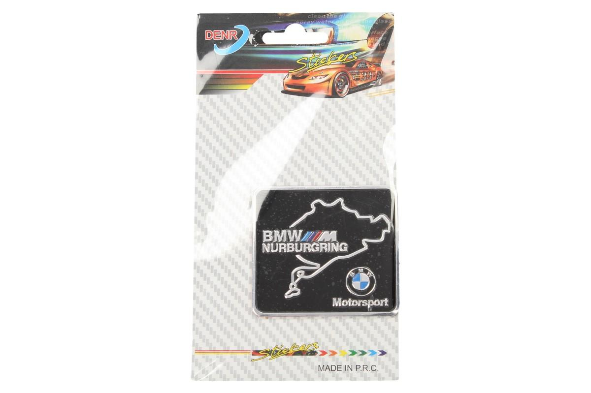 Kovová samolepka BMW Nurburgring Motorsport 6 x 5,5 cm