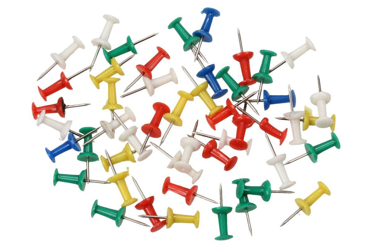 Kancelářské barevné spínáčky sada 50 kusů