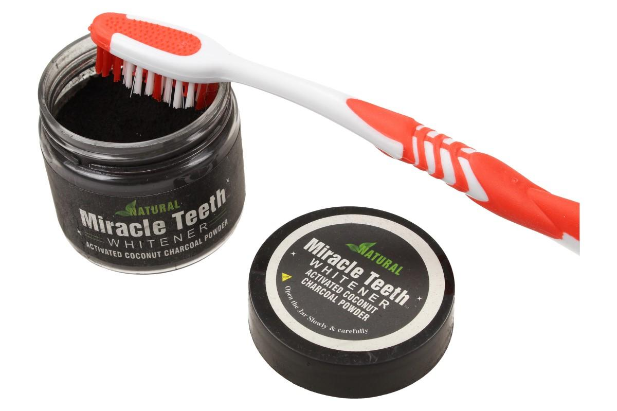 Přírodní bambusové uhlí pro bělení zubů Miracle Teeth