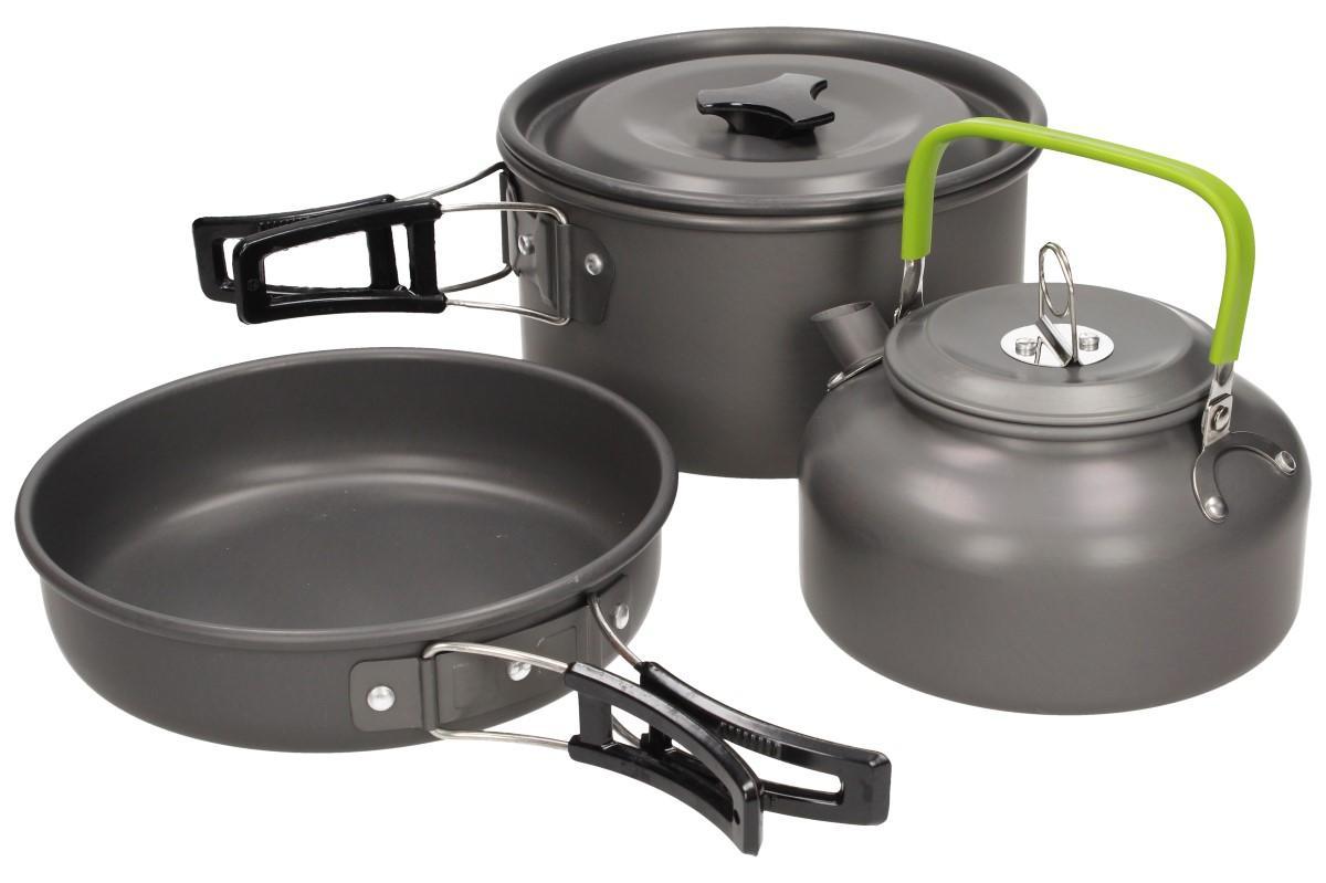Kempingový skládací set, nádobí na vaření CAMPSOR-303