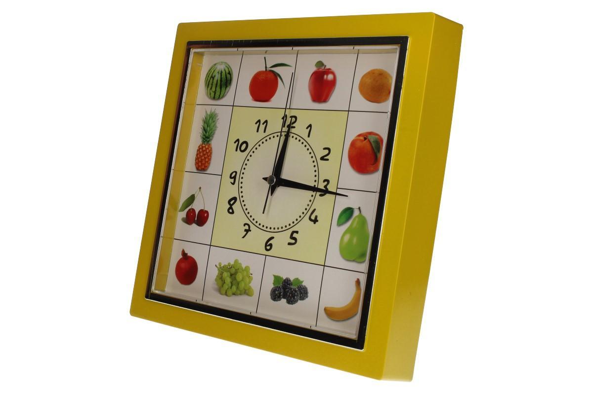 Nástěnné hodiny FLORINA VEGA ovoce a zelenina ručičkové