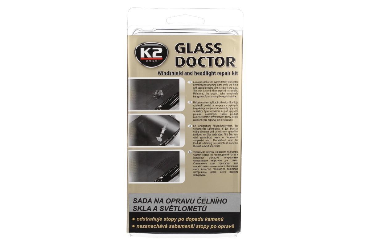 K2 GLASS DOCTOR sada na opravu čelního skla a světlometů