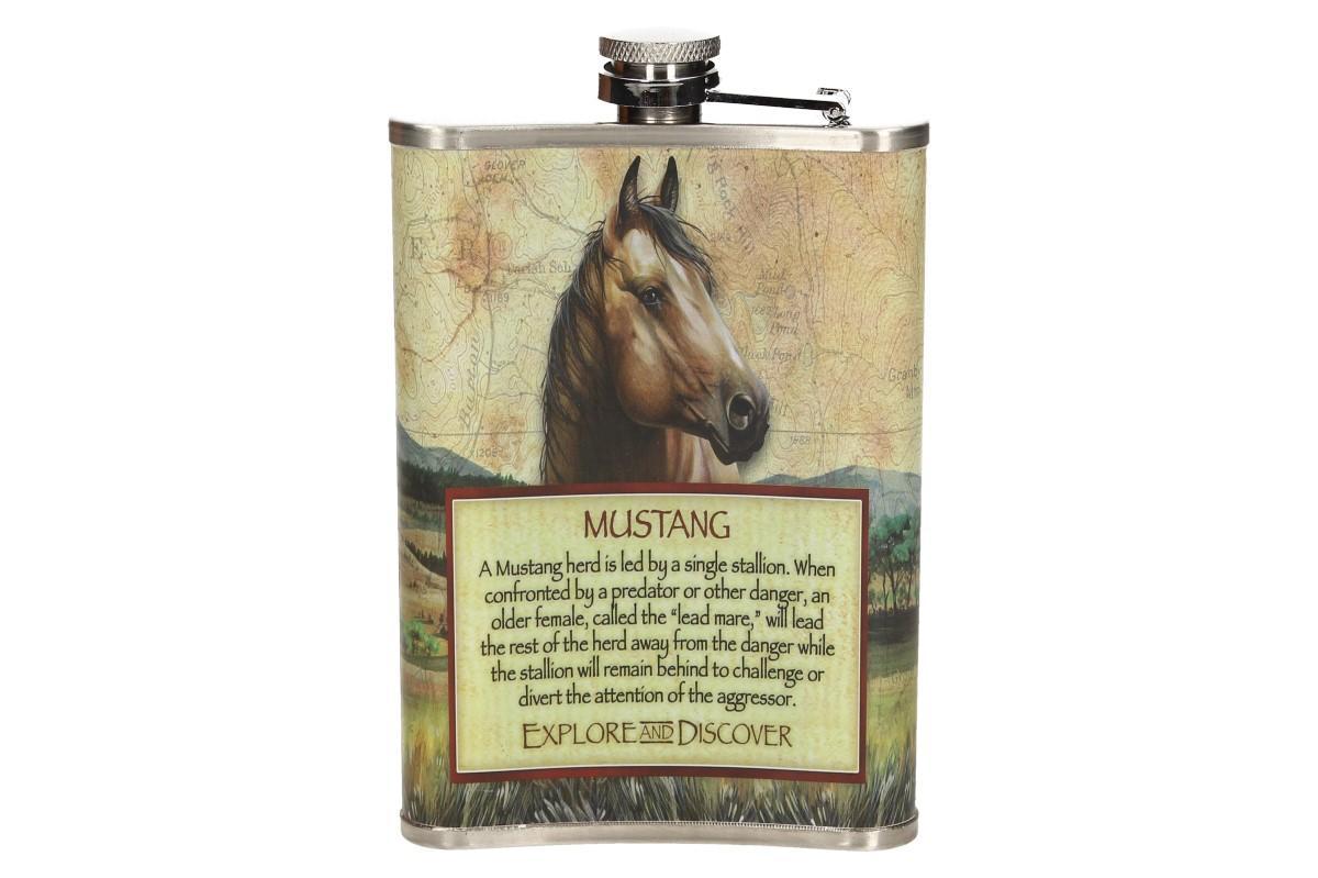 Dárková sada placatka s motivem koně