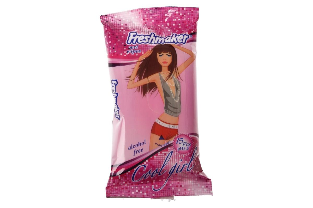 Freshmaker vlhčené ubrousky 15ks Cool Girl