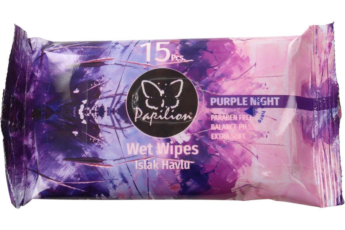Papilion vlhčené ubrousky 15ks Purple Night