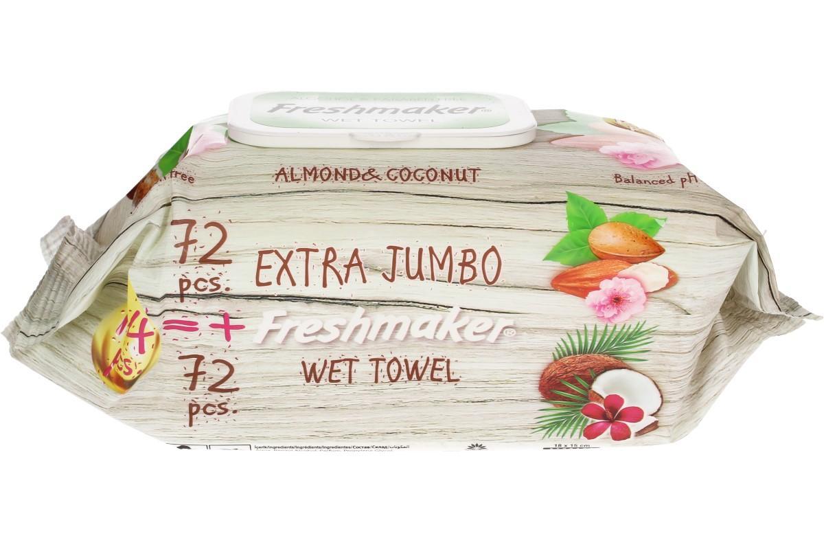 Freshmaker vlhčené ubrousky 144ks Coconut & Almond