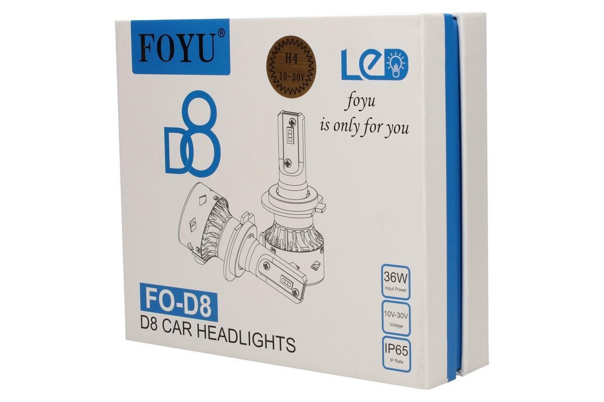 LED autožárovka FOYU D8 H4 CANBUS 10-30V 36W