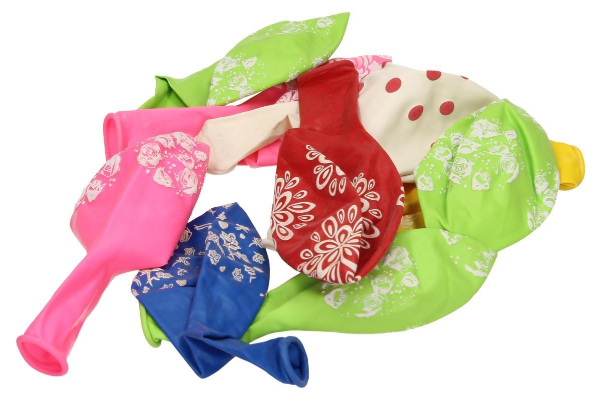 Vzorované různobarevné balonky