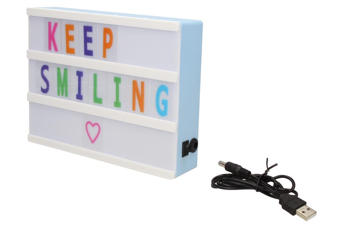USB Svítící lampička s volitelnými písmenky