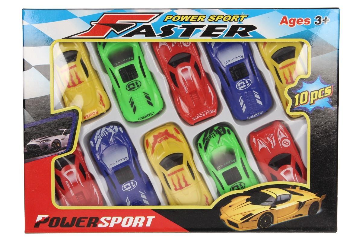 Sada autíček na hraní power sport 10 ks