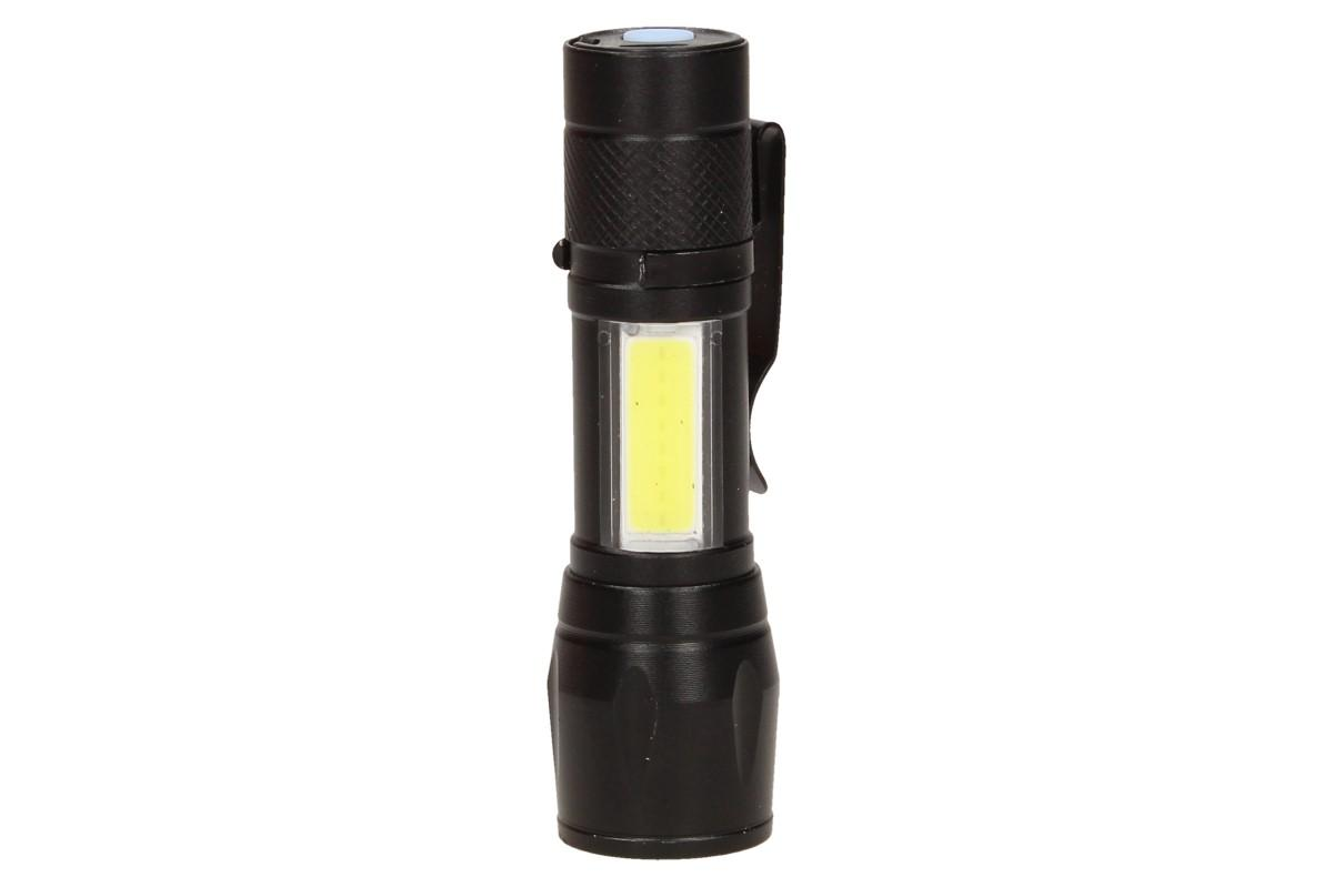 LED Kapesní výkonná nabíjecí svítilna s klipem