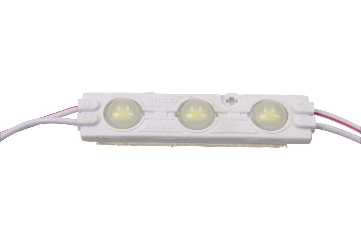 Nalepovací silná tříbodová LED dioda bílá