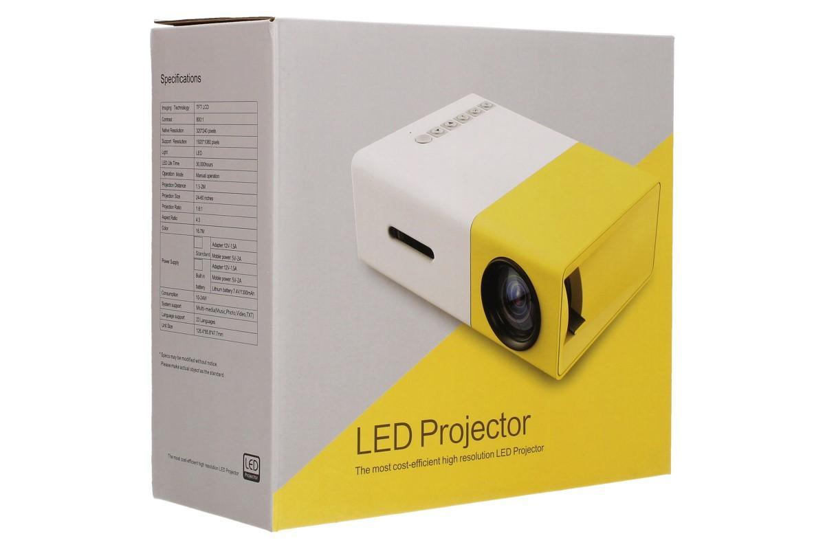 Mini LED projektor žlutý YG300