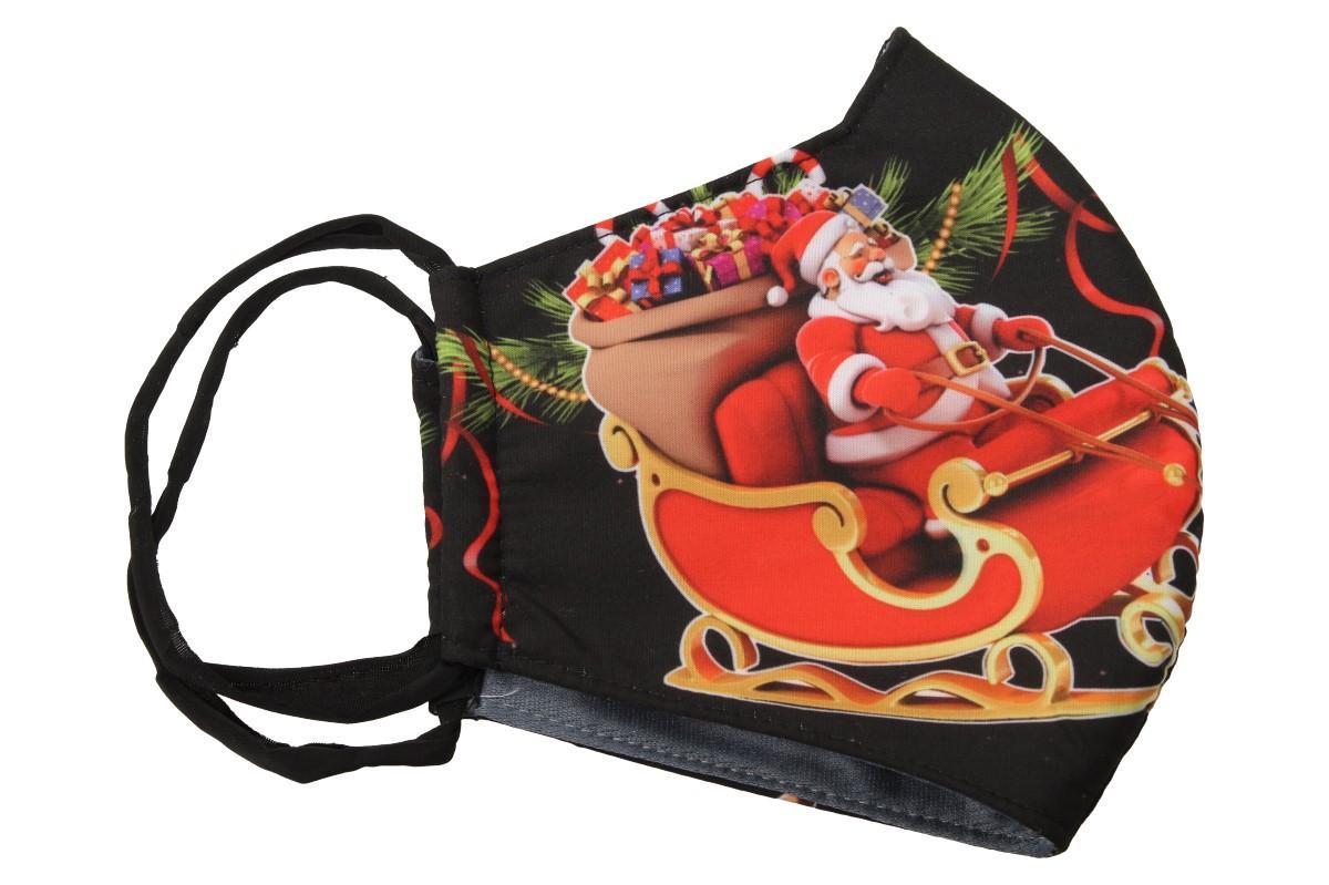 Rouška vánoční Santa na saních